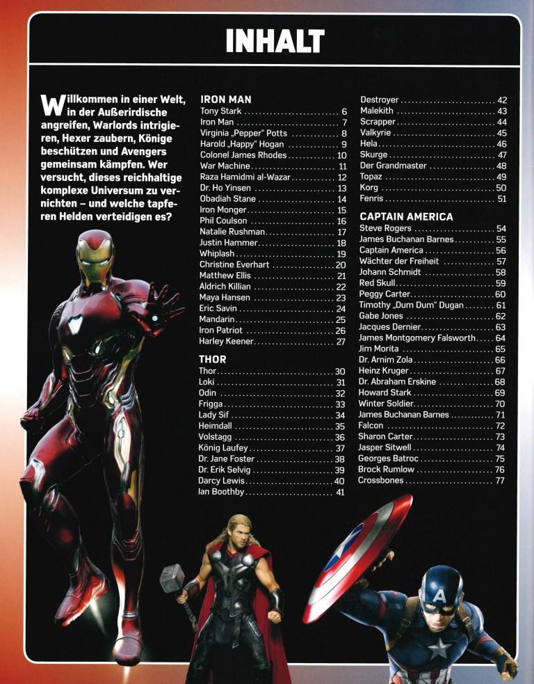 Lexikon der Superhelden-Marvel - Inhalt Seite 1