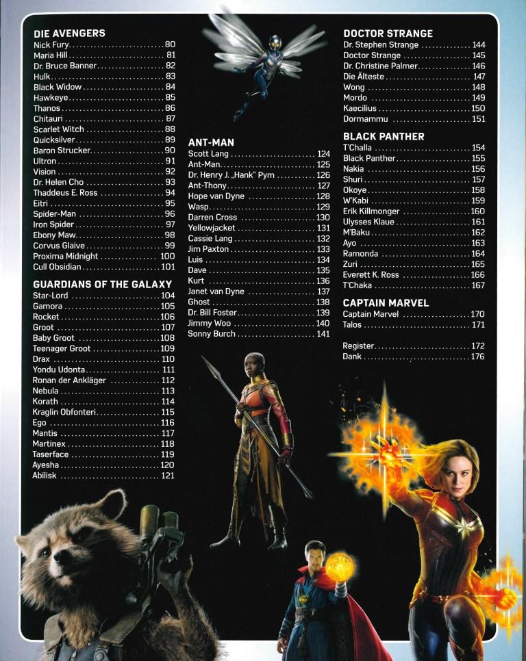 Lexikon der Superhelden-Marvel - Inhalt Seite 2
