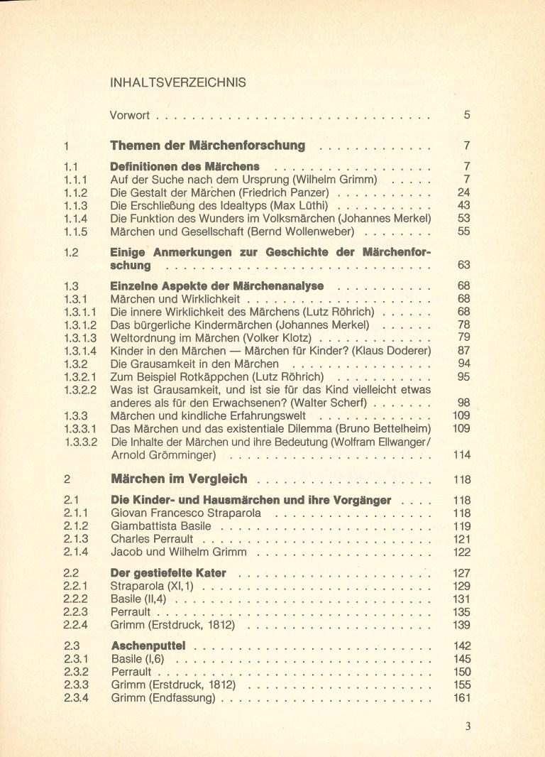 Märchen - Inhalt Seite 1