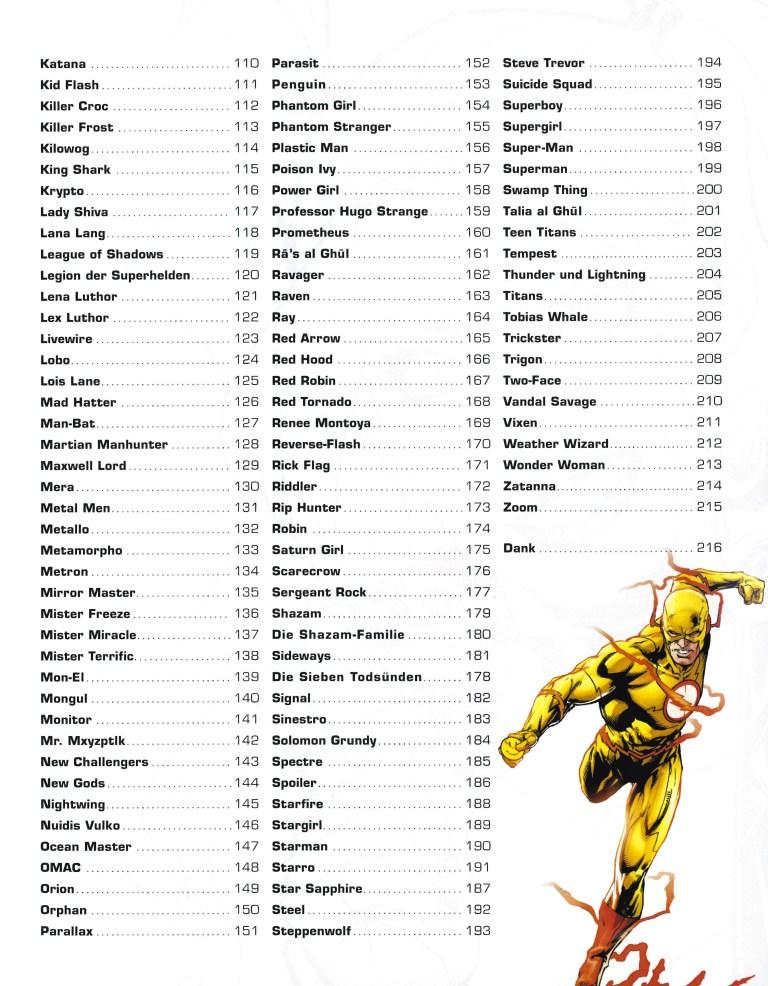 Das grosse Superhelden-Lexikon - Inhalt Seite 2