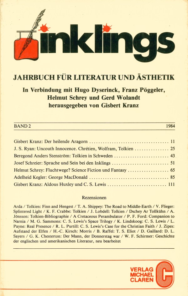 Inklings-Jahrbuch, Band 2 - Titelcover