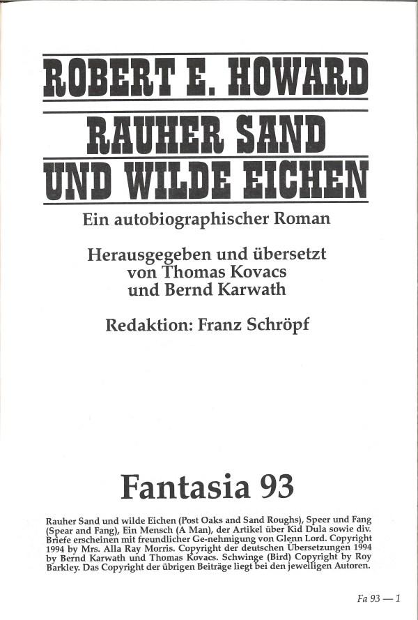 Rauher Sand und wilde Eichen - Impressum