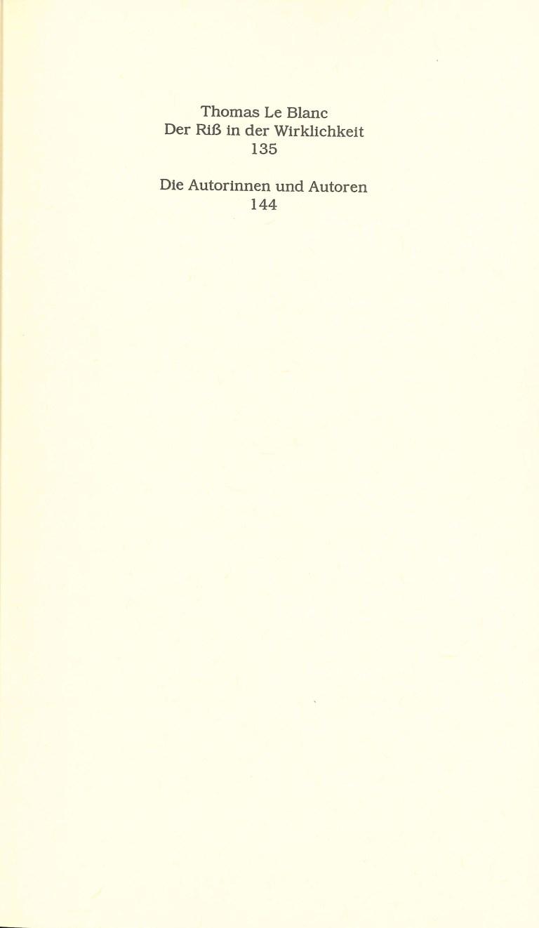 Wetzlarer Versionen - Inhalt Seite 3