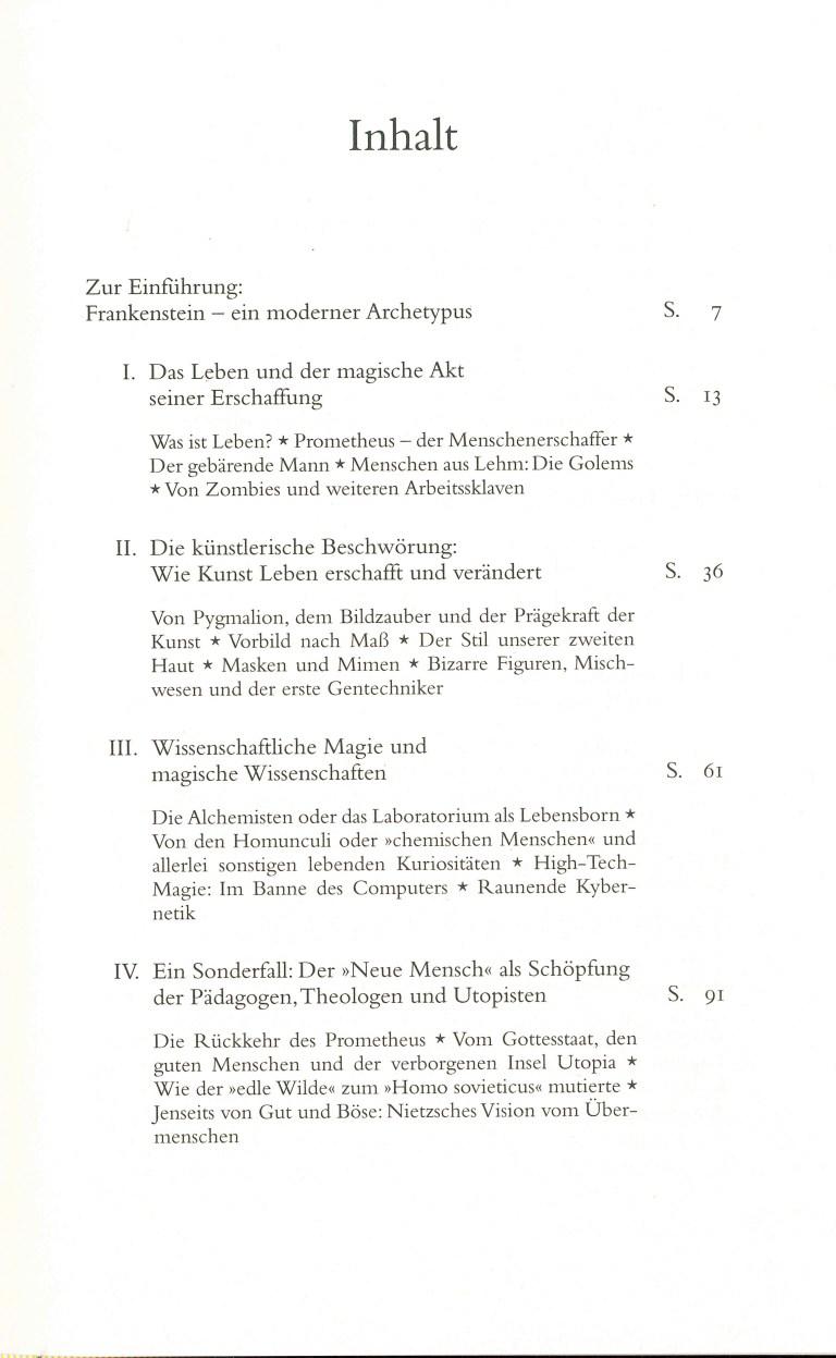 Frankenstein - Inhalt Seite 1