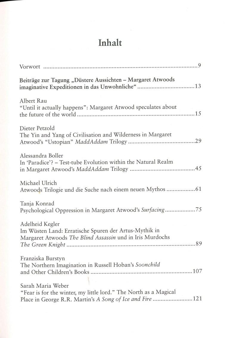 Inklings-Jahrbuch, Band 32 - Inhalt Seite 1