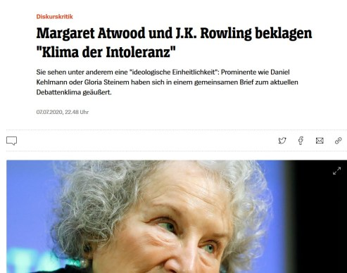 Atwood, Rowling - Spiegel