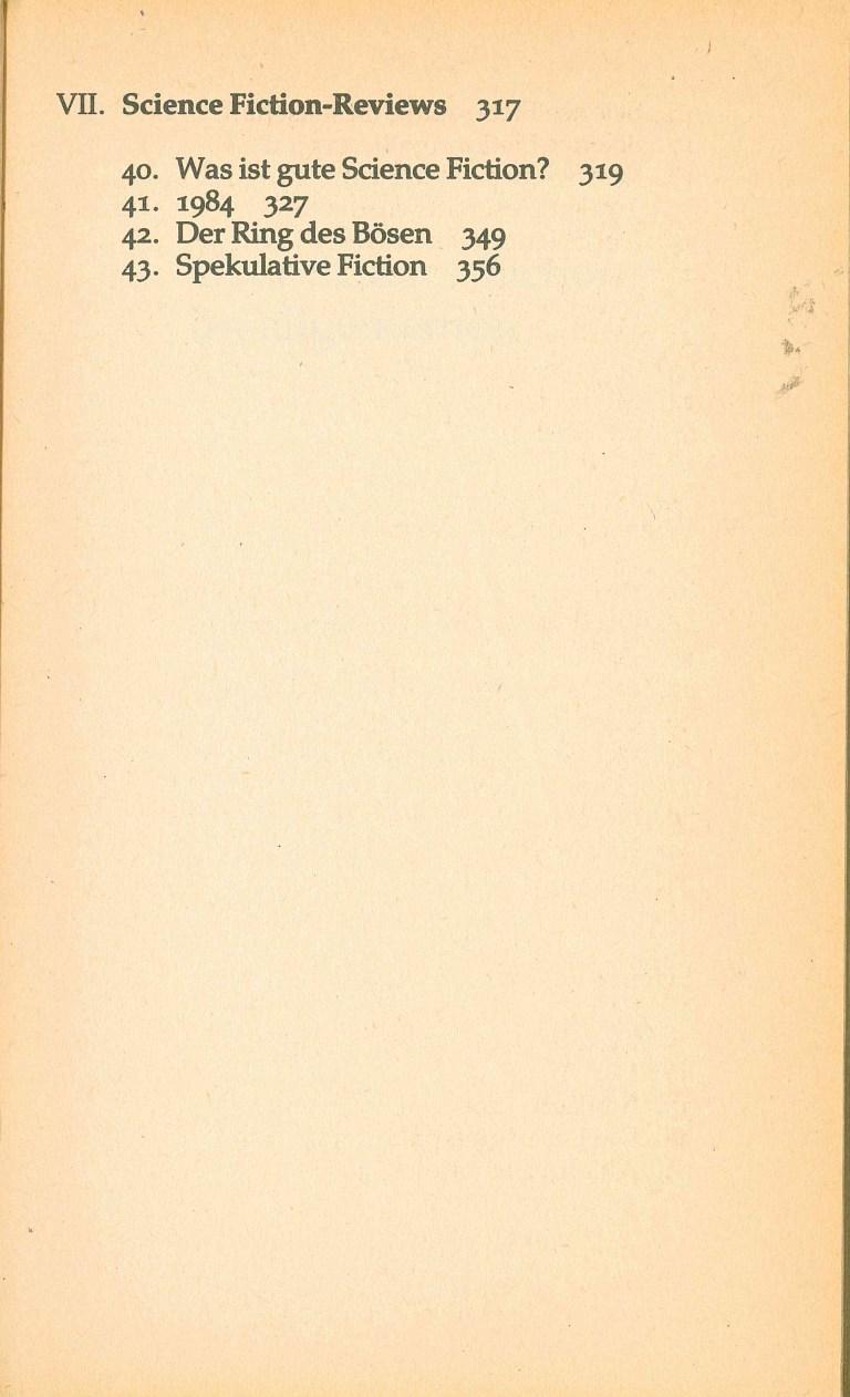 Isaac Asimov über Science Fiction - Inhalt Seite 3