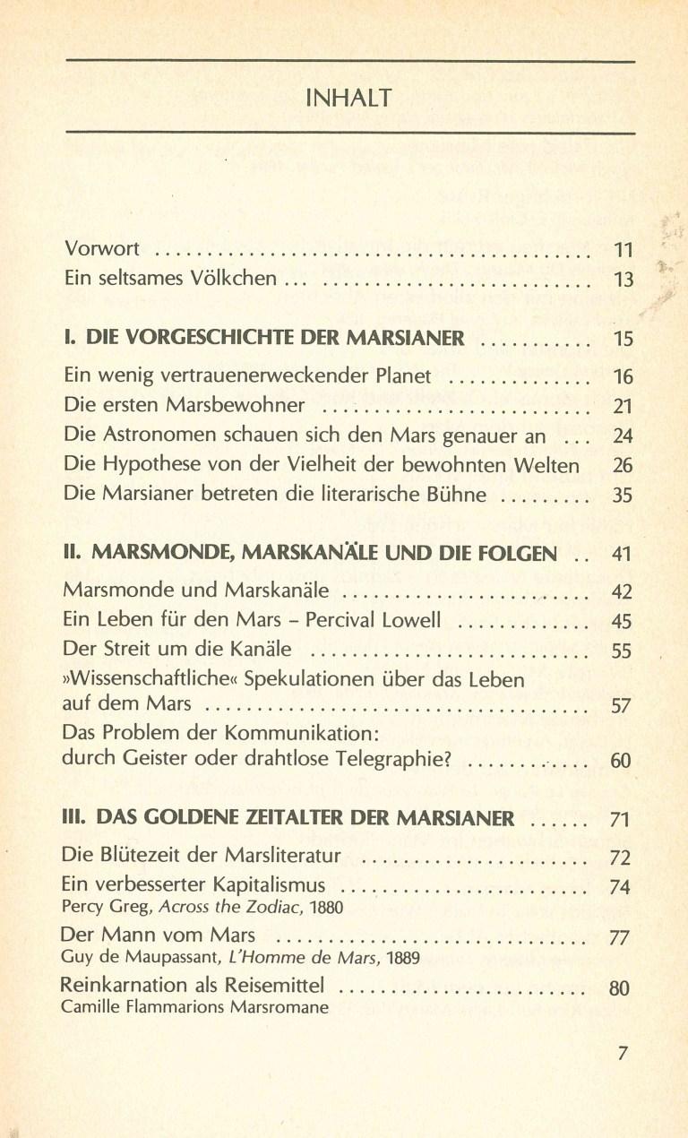 Das Jahrhundert der Marsianer - Inhalt Seite 1