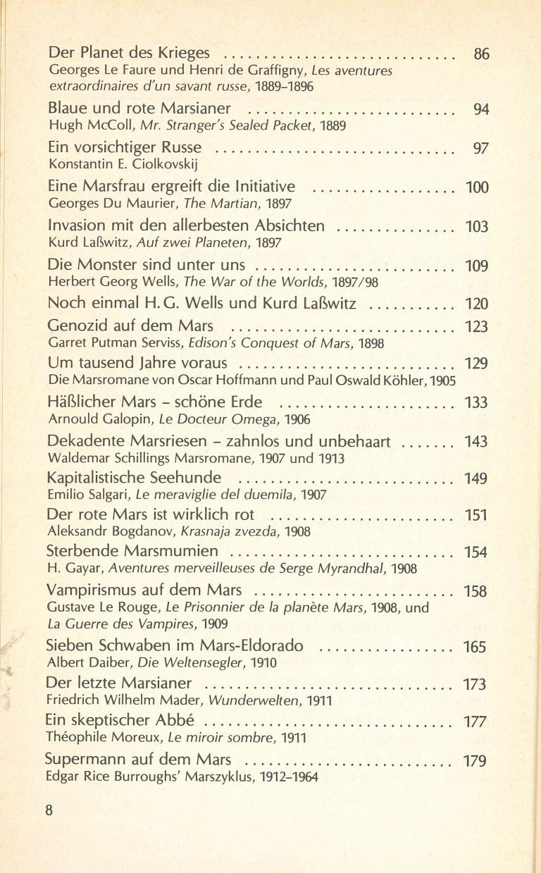 Das Jahrhundert der Marsianer - Inhalt Seite 2