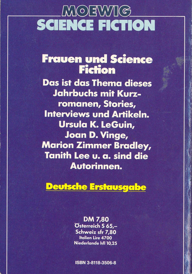 Science Fiction Almanach 1981 - Rückencover