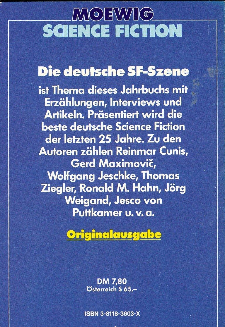 Science Fiction Almanach 1983 - Rückencover
