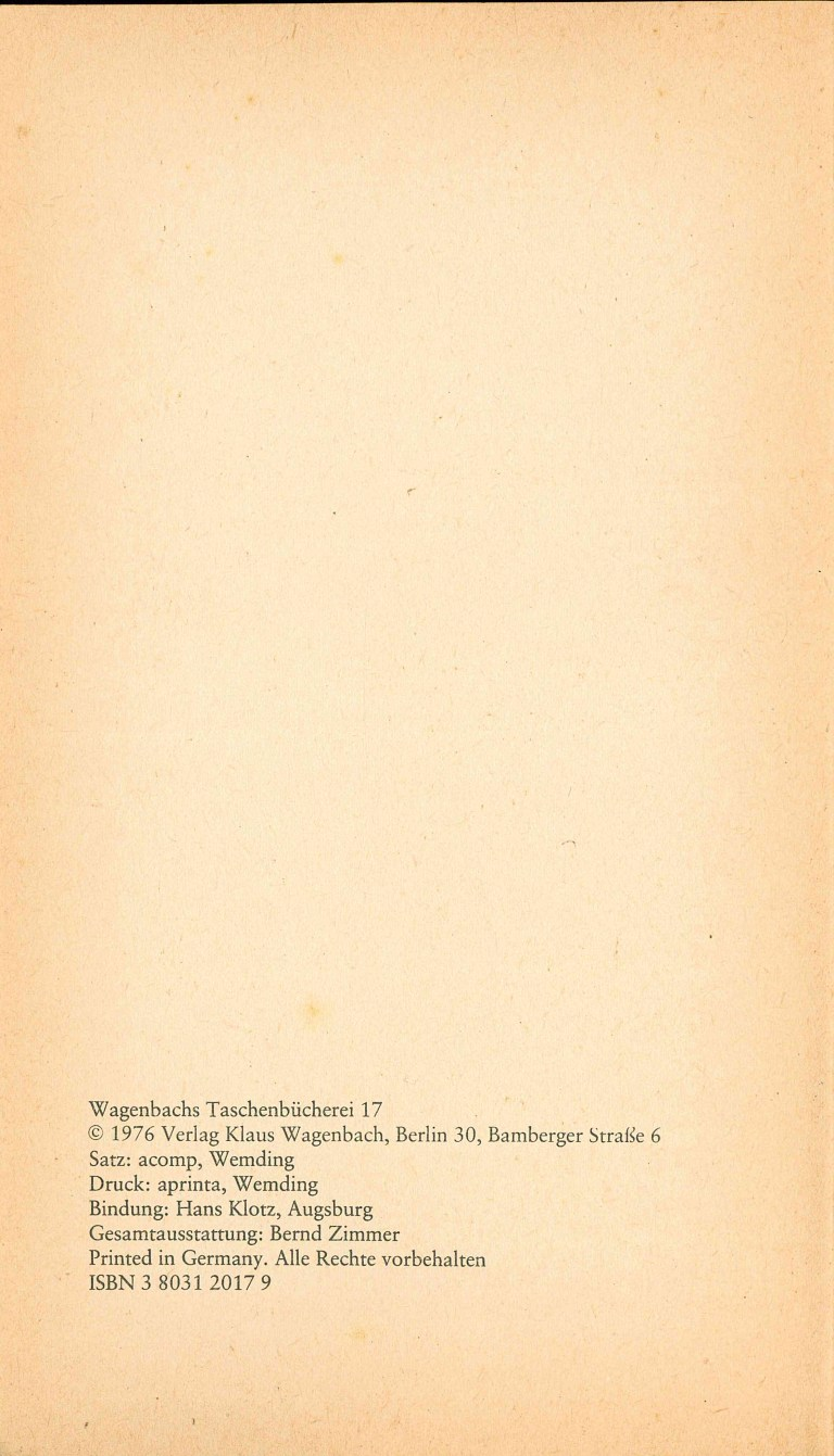 Grand Guignol - Impressum