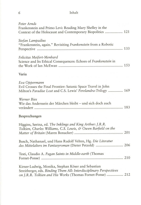 Inklings, Band 36 - Inhalt Seite 2