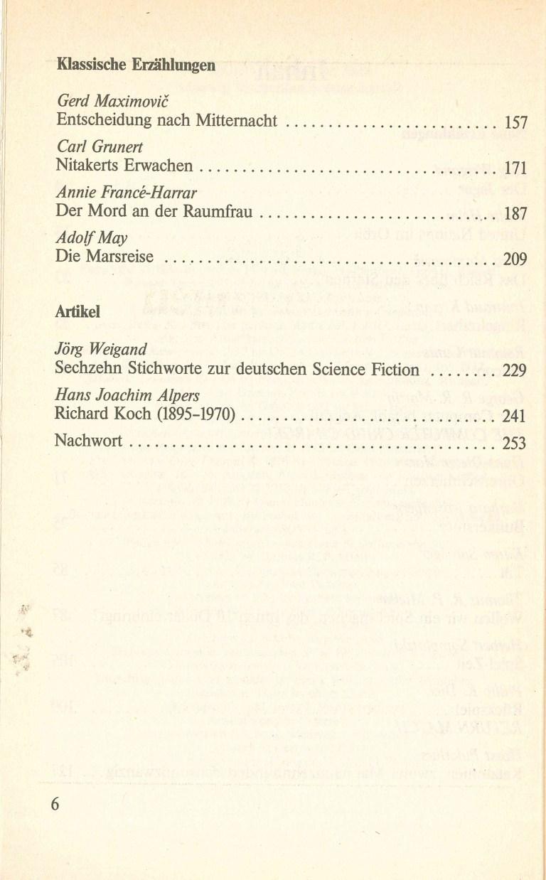 Science Fiction Almanach 1984 - Inhalt Seite 2