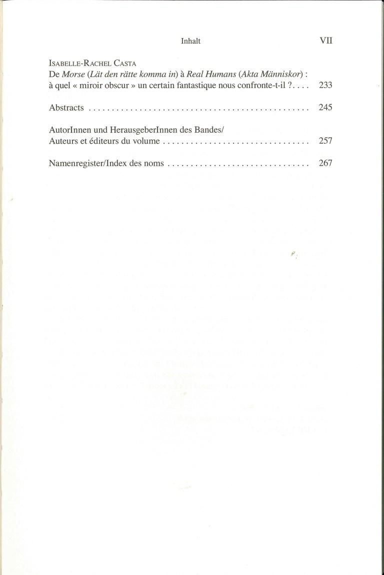 Phantastik und Gesellschaftskritik im deutschen, niederländischen und nordischen Kulturraum - Inhalt Seite 3