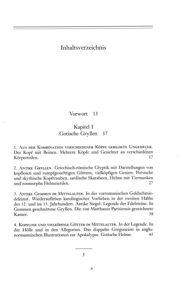 Das phantastische Mittelalter -Inhalt Seite 1