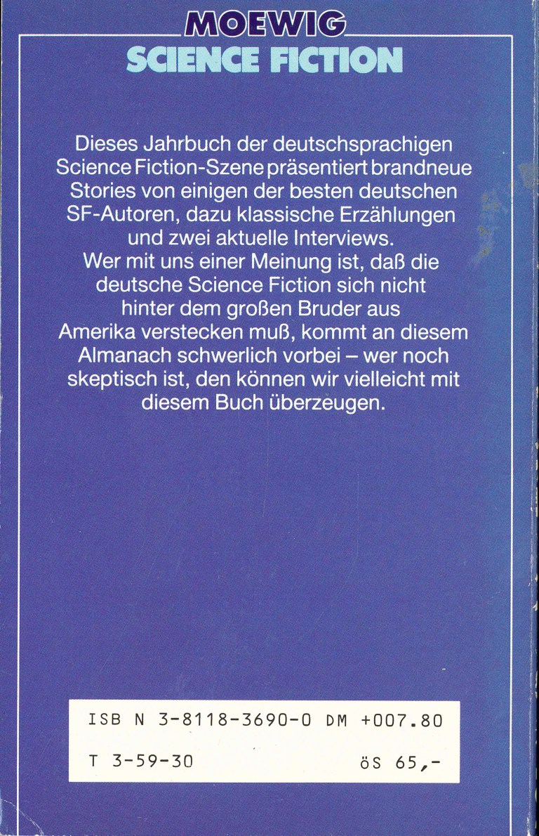 Science Fiction Almanach 1986 - Rückencover