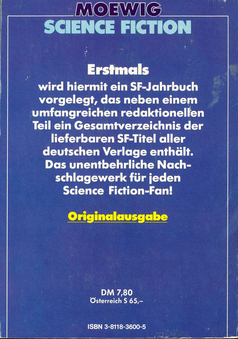 Science Fiction Jahrbuch 1983 - Rückencover