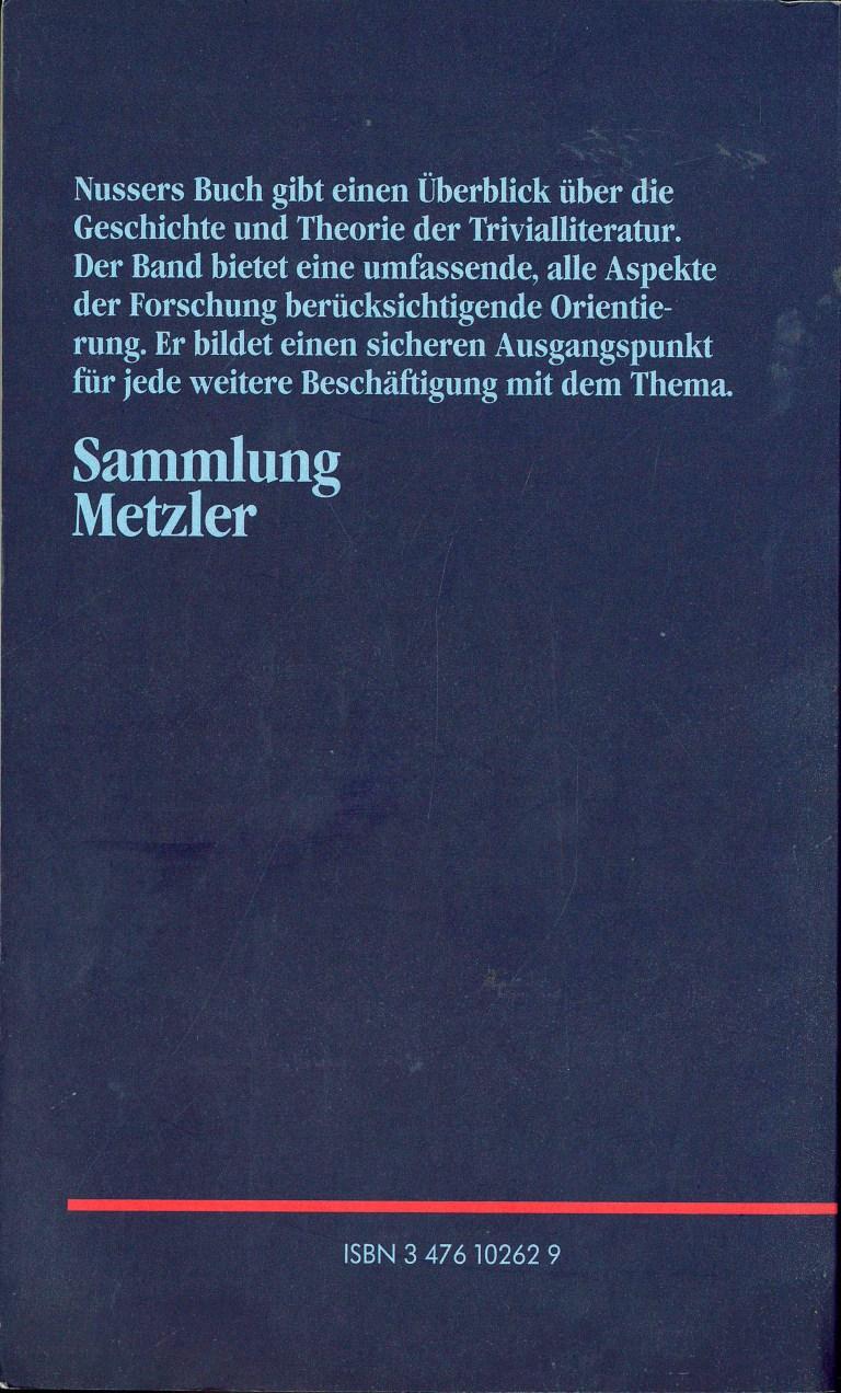 Trivialliteratur - Rückencover