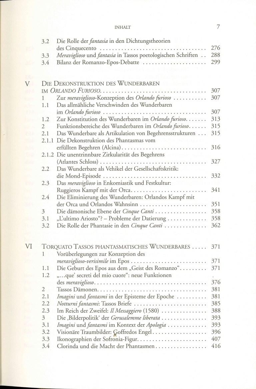 Vom Wunderbaren zum Phantasmatischen - Inhalt Seite 3
