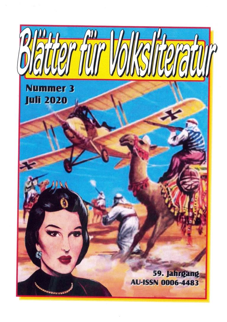 Blätter für Volksliteratur 3/2020 - Titelcover