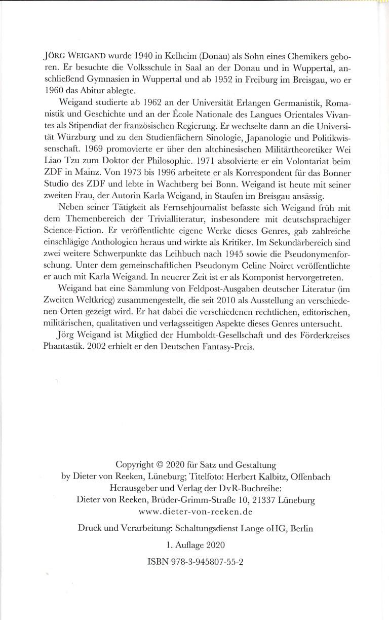Die Autoren der utopisch-phantastischen Leihbücher - Impressum
