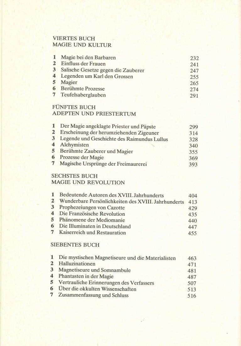 Geschichte der Magie 1985 - Inhalt Seite 2