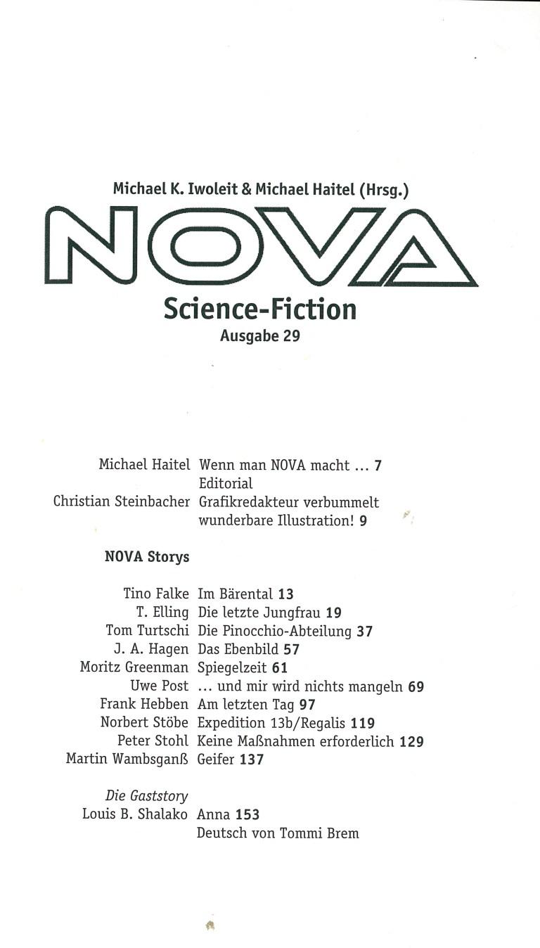 Nova 29 - Inhalt Seite 1