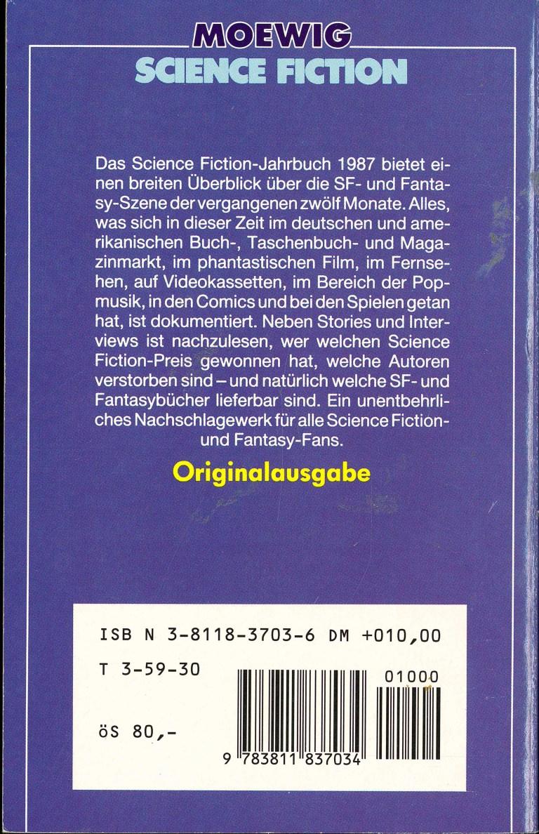 Science Fiction Jahrbuch 1987 - Rückencover