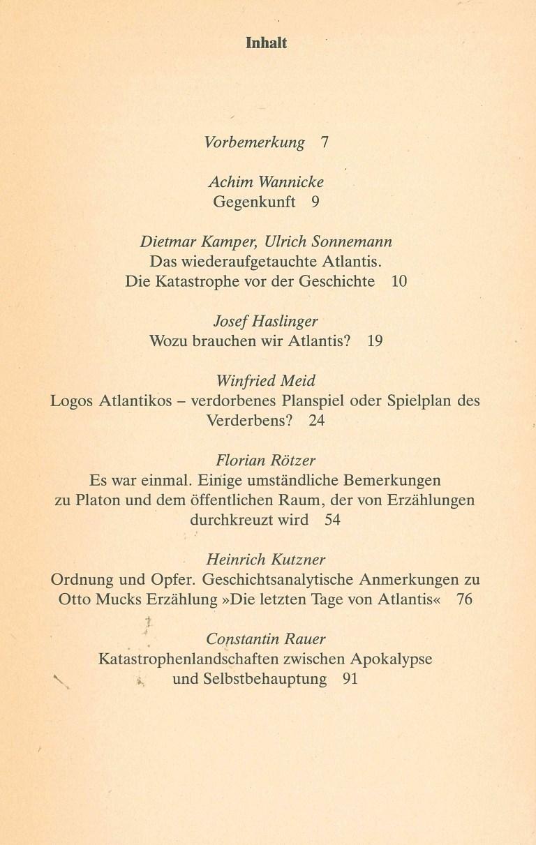 Atlantis zum Beispiel - Inhalt Seite 1