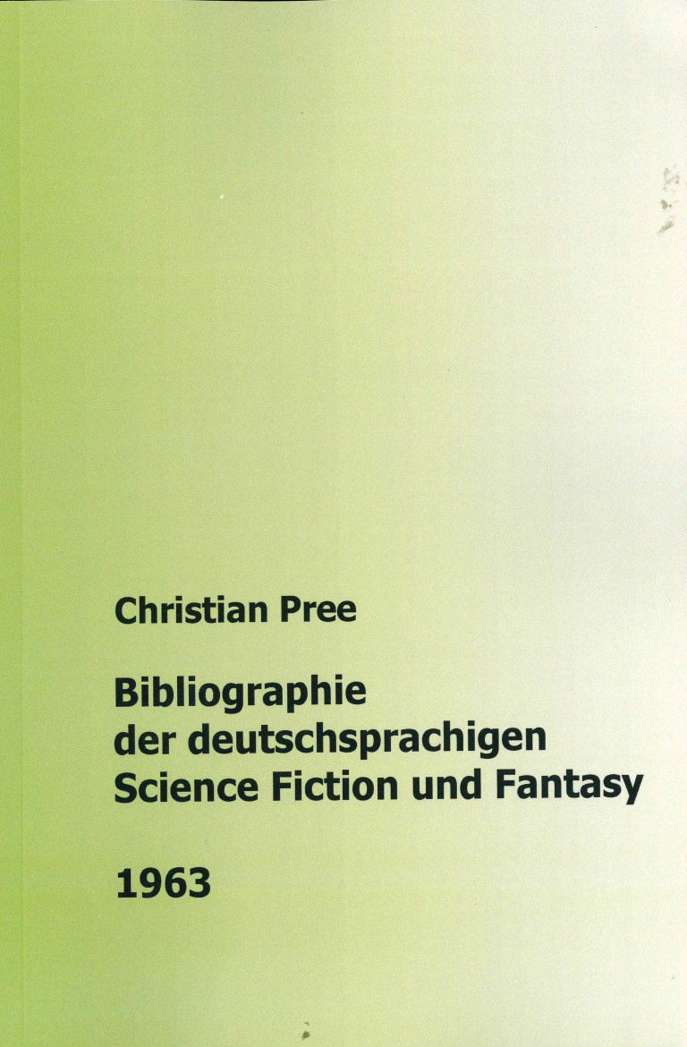 Bibliographie der deutschsprachigen Science Fiction und Fantasy 1963 - Titelcover