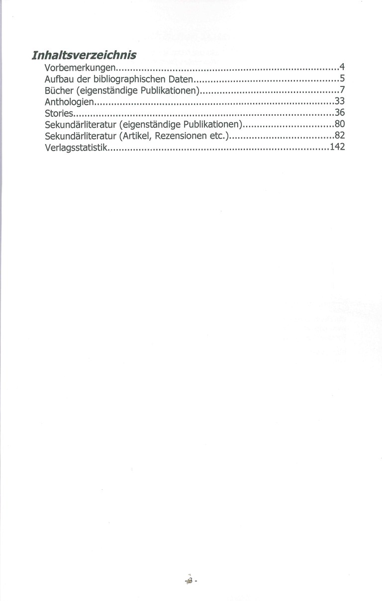Bibliographie der deutschsprachigen Science Fiction und Fantasy 1963 - Inhalt