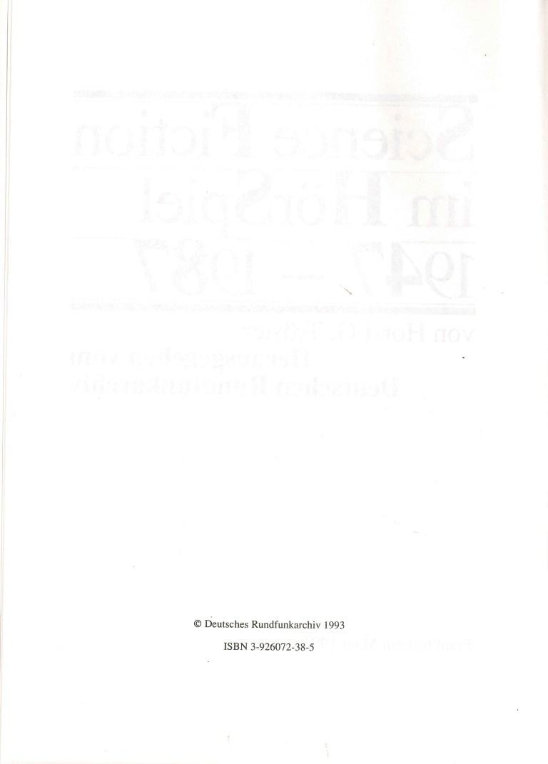 SF im HörSpiel 1947-1987 - Impressum