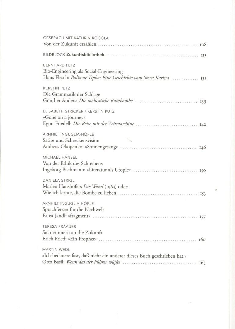 Utopien und Apokalypsen - Inhalt Seite 2