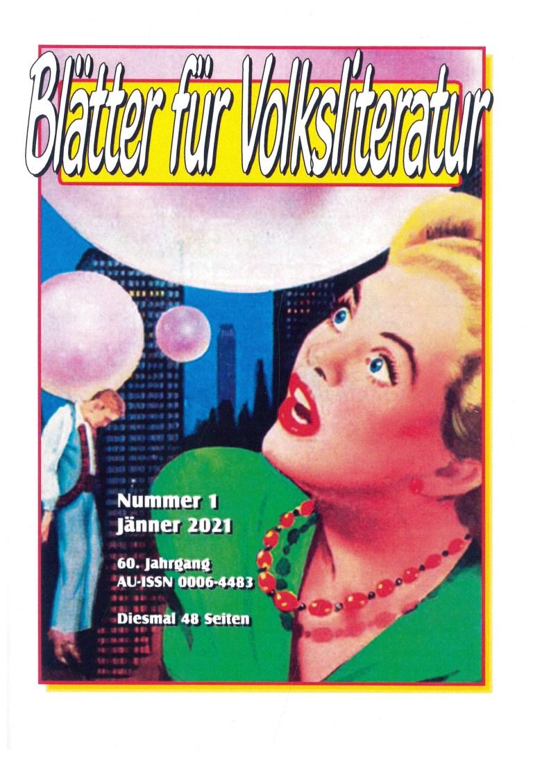 Blätter f´ür Volksliteratur, 1/2021 - Titelcover