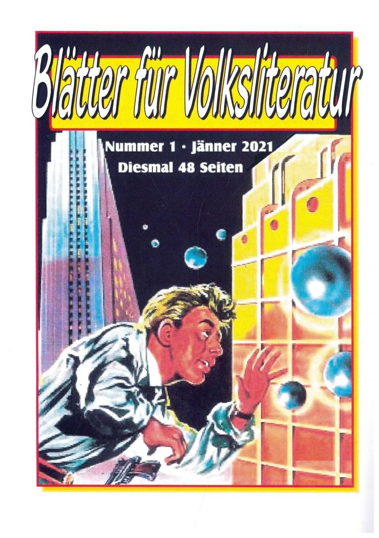 Blätter f´ür Volksliteratur, 1/2021 - Rückencover