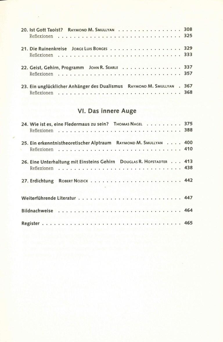 Einsicht ins Ich - Inhalt Seite 3