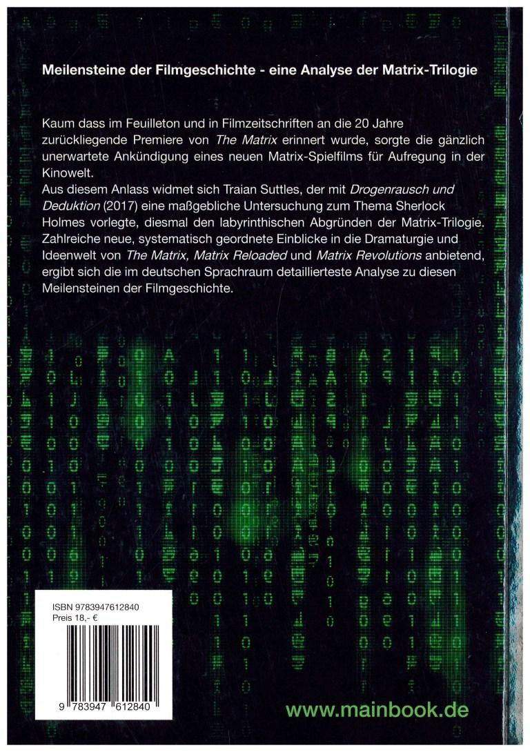 Matrix-Liebe - Rückencover