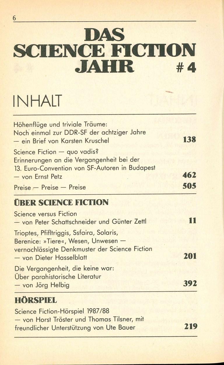 Science Fiction Jahr 1989 - Inhalt Seite 2