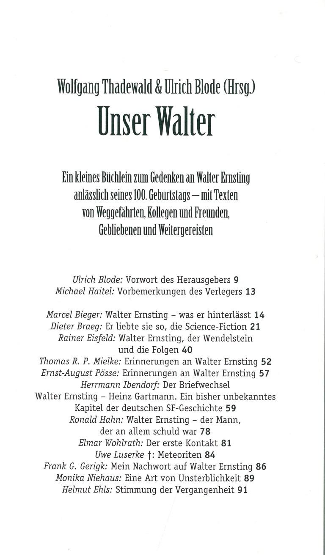 Unser Walter - Inhalt Seite 1