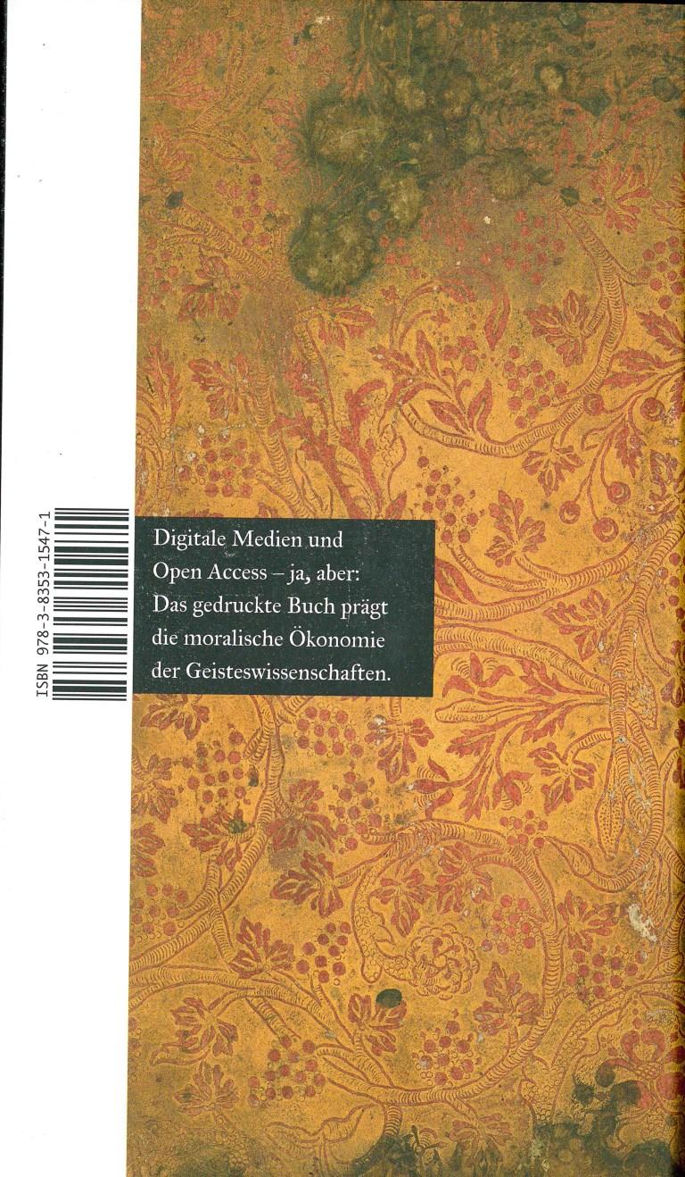 Zur Sache des Buches - Rückencover