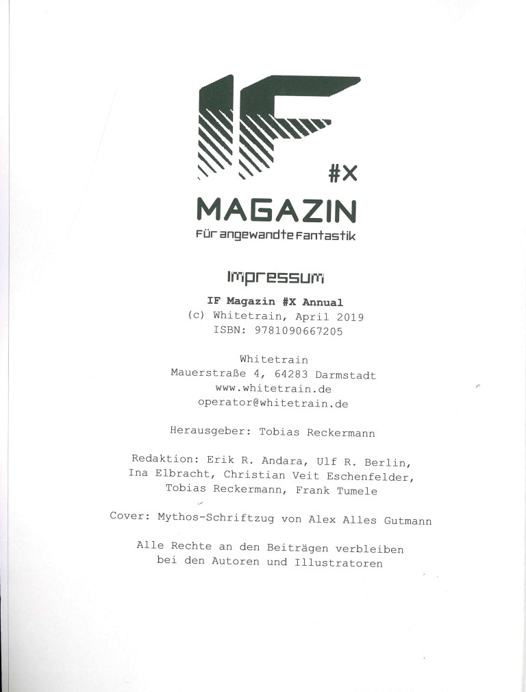 IF Magazi, Annual 2019 - Impressum