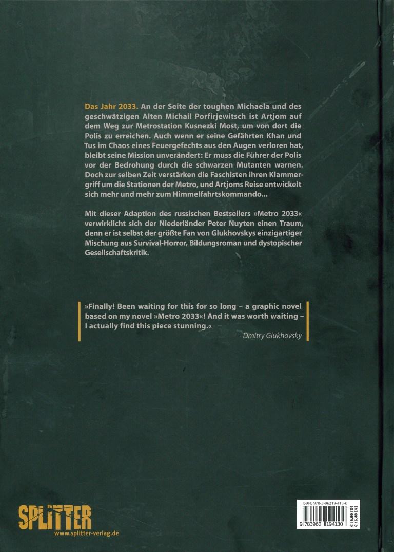 Metro 2033 (Comic) Band 2 - Rückencover