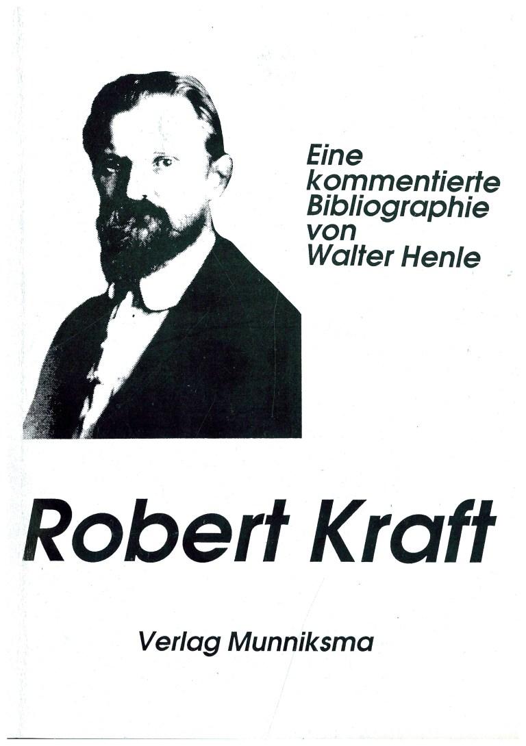 Robert Kraft Bibliographie - Titelcover