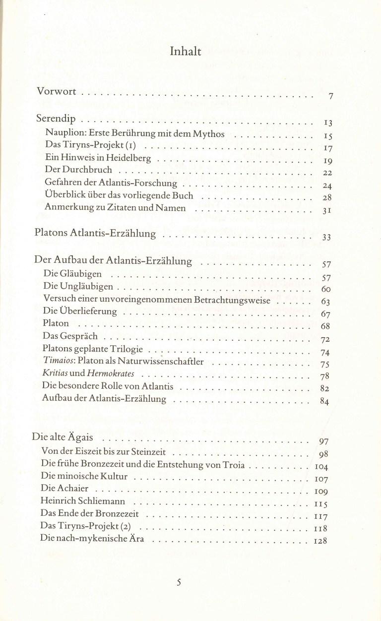 Atlantis-Eine Legende wird entziffert - Inhalt Seite 1