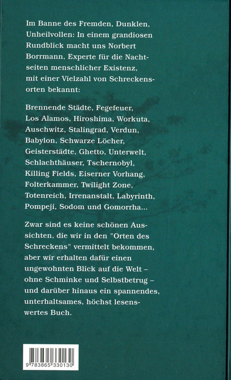 Orte des Schreckens - Rückencover