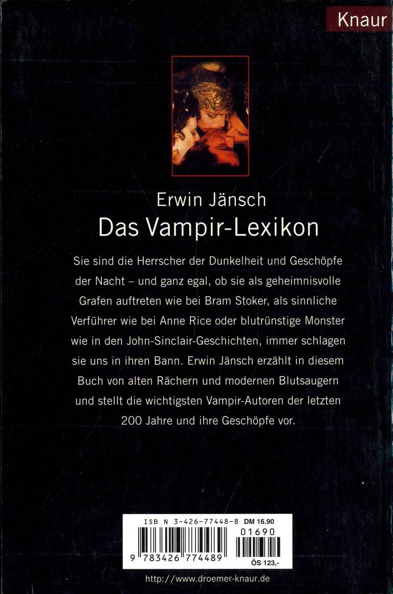 Das Vampir-Lexikon - Rückencover