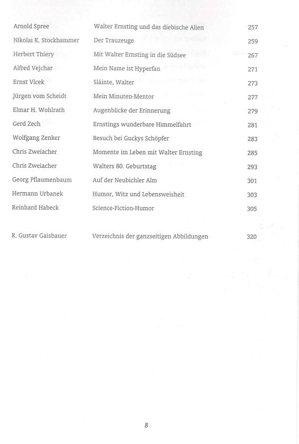 Walter Ernsting zum Gedächtnis - Inhalt Seite 4