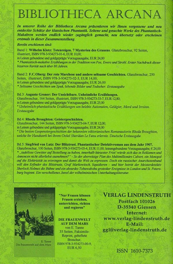 Arcana, Nr. 8, Dez 2006 - Rückencover