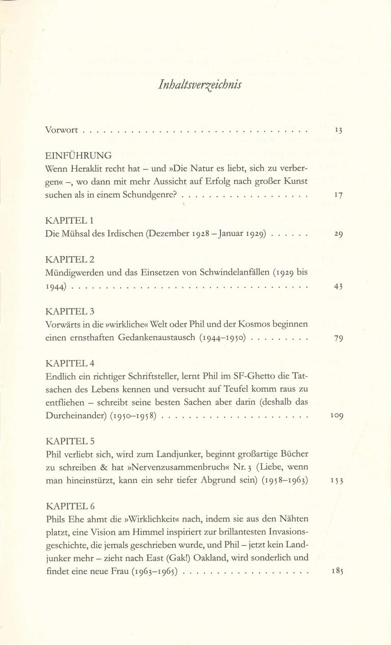 P.K.Dick Göttliche Überfälle - Inhalt Seite 1